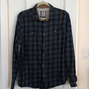 Other - Men's blue and gray flannel